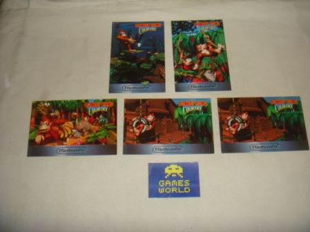 Donkey Kong Country Postcards x5