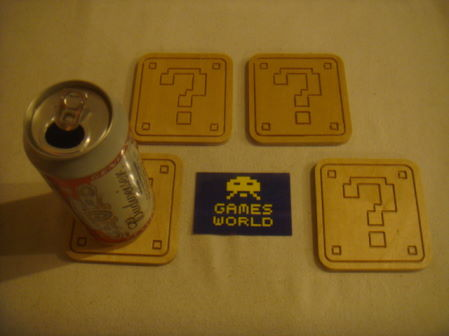Super Mario ? Block Coaster Set of 4