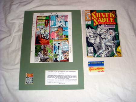 Silver Sable Original Artwork + Comic