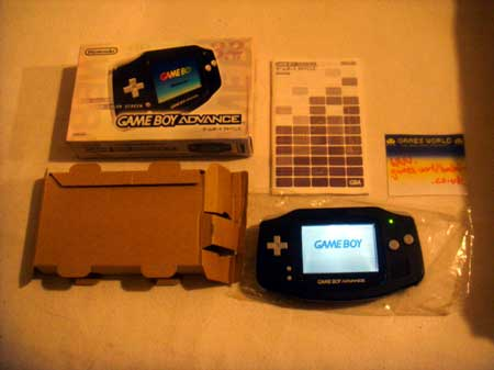 Game Boy Advance: Black Back Lit