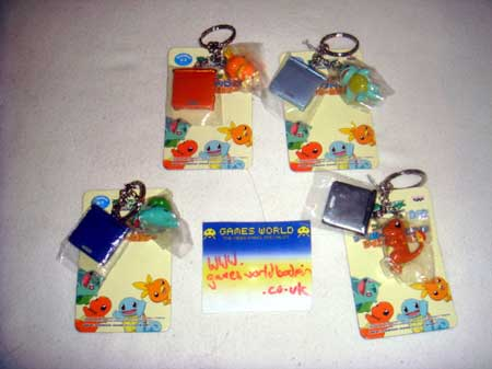 Pokemon Game Boy SP Key Chains