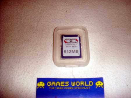 Wii SD Memory Card: 512MB