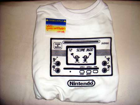 Nintendo Game & Watch T Shirt L