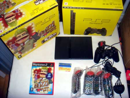 Playstation 2 Slim Console: Buzz! Package