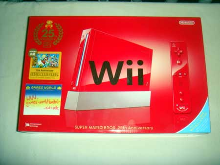 Nintendo Mario 25th Anniversary Red Wii Console (Japanese)