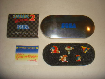 Sonic 2 Collectable Pin Badge Set