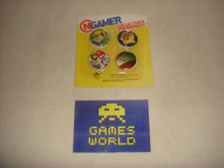 Nintendo set of 4 Badges