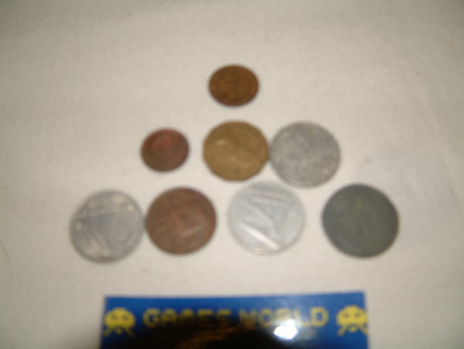 8 Coins from Europe 1870-1967