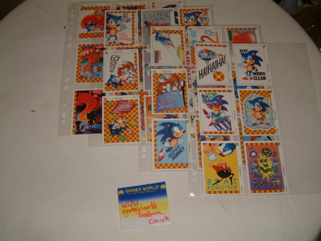 Complete Set of Sonic Cards