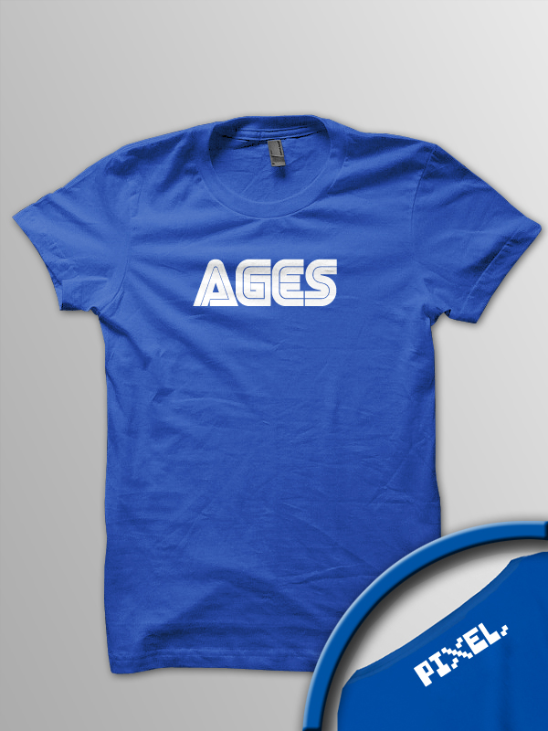 Pixel Pixels: AGES T Shirt (Blue)