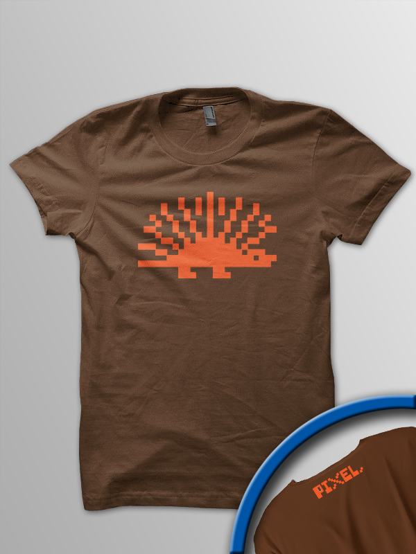 Pixel Pixels: Pixel Hedgehog (Brown)
