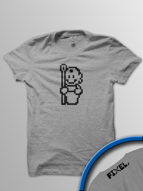 Pixel Pixels: (Mario) Made of Stone T Shirt