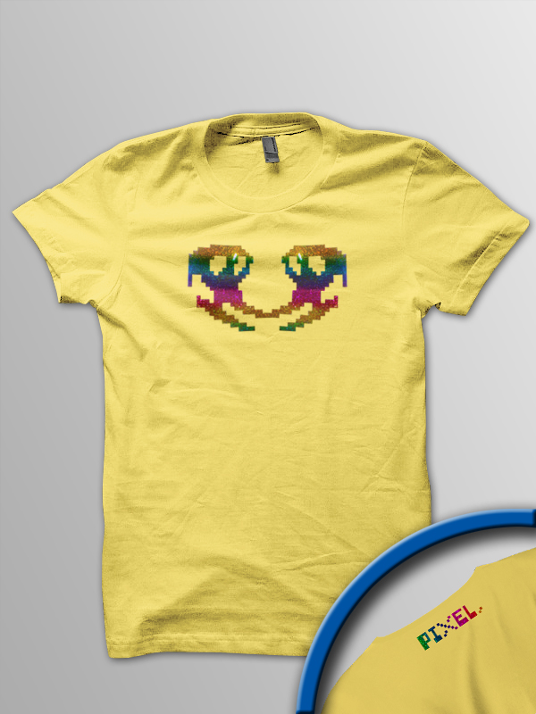 Pixel Pixels: Horace's Psychedelic Ski Ride T Shirt **Retired**