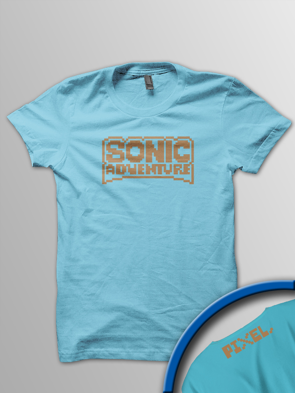 Pixel Pixels: Sonic Adventure in 8-bit T Shirt