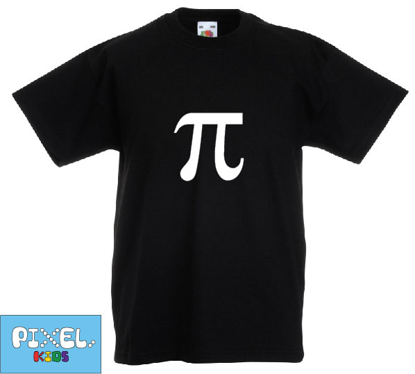 Pixel Pixels Kids: Pi T Shirt (Black)