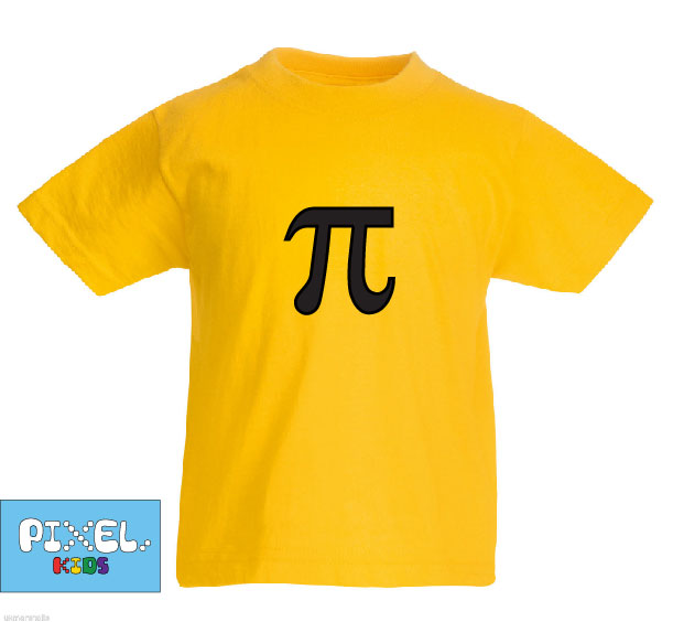 Pixel Pixels Kids: Pi T Shirt (Yellow)