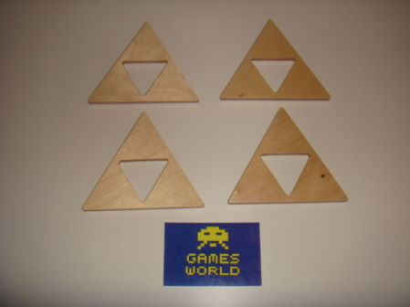 Zelda: Set of 4 Triforce Coasters