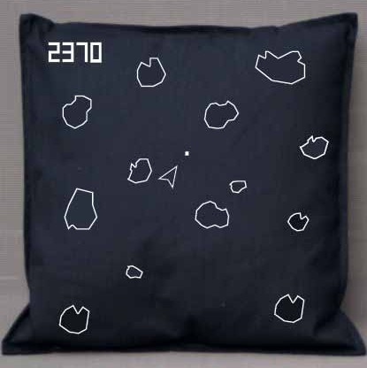 Pixel Pixels: Asteroids Cushion Cover