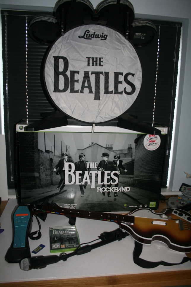 Rock Band Beatles Band Drums Guitar Boxset