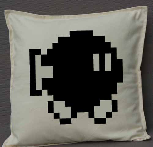 Pixel Pixels: Bob-omb Cushion Cover