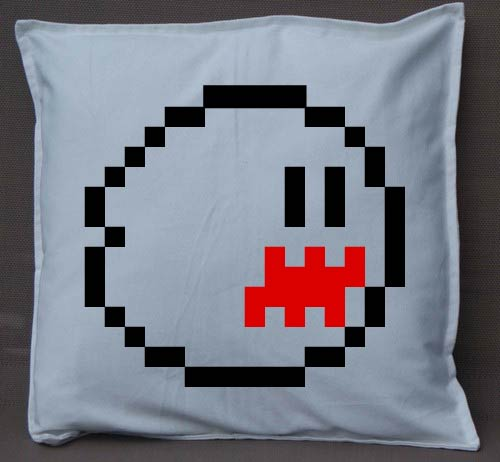 Pixel Pixels: Boo Cushion Cover