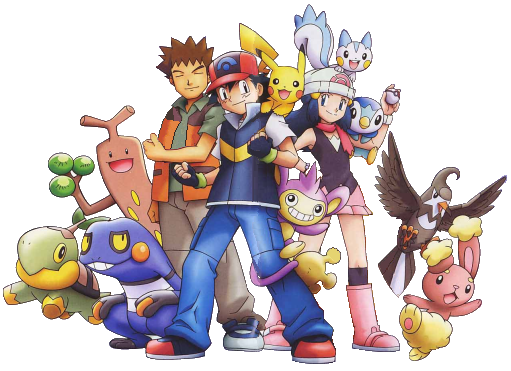 Pokemon diamond and pearl group ... exactly what I was hoping for with a 3D Pokemon game.