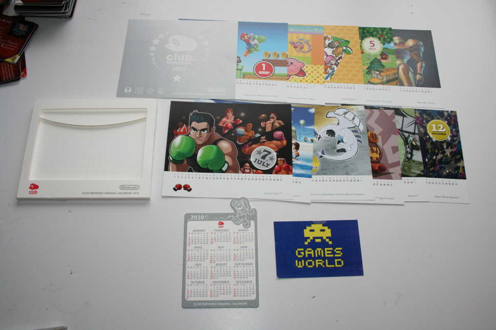 Club Nintendo Original Calendar 2010 - Click Image to Close