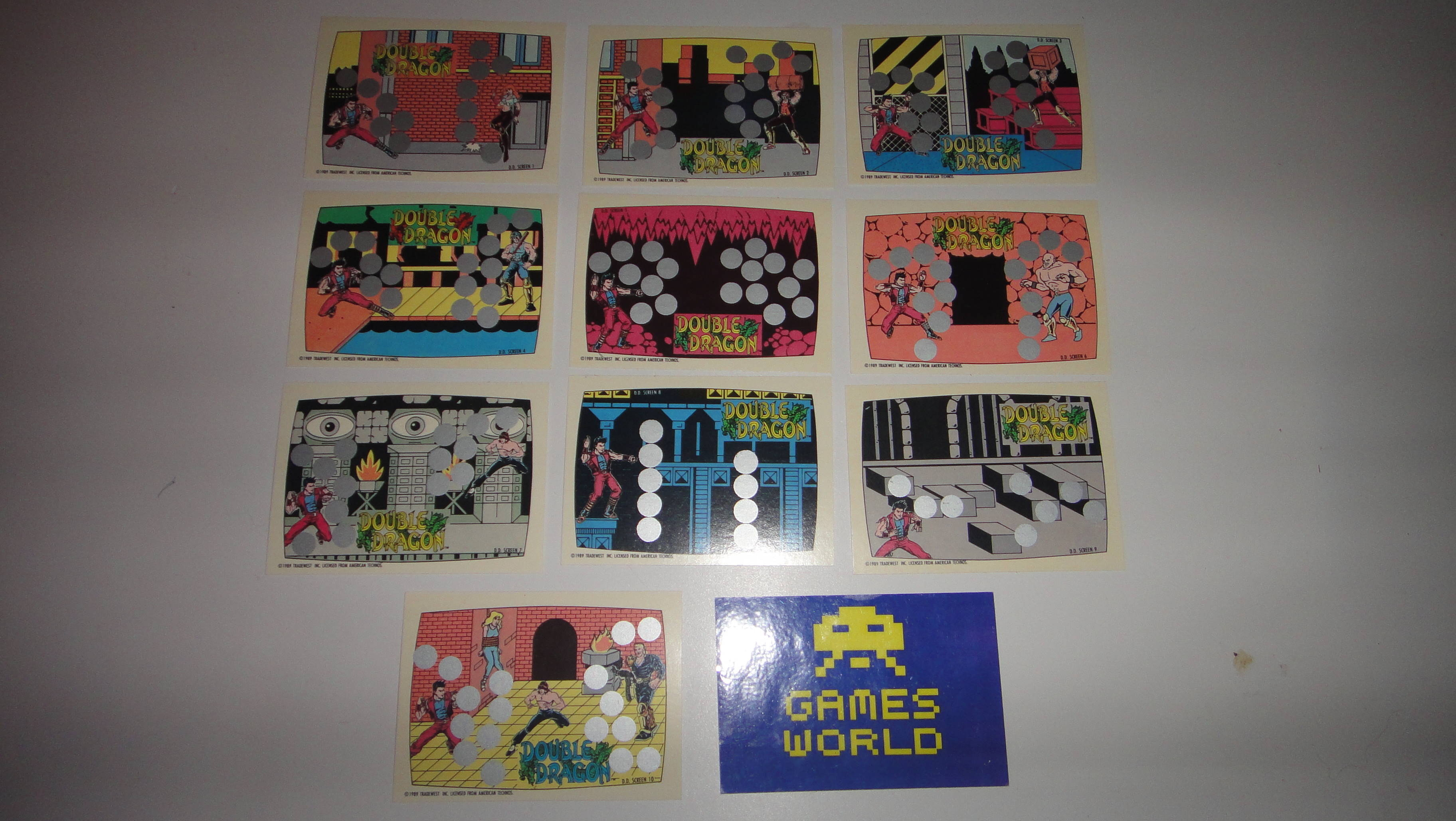 Double Dragon Set of Battle Cards
