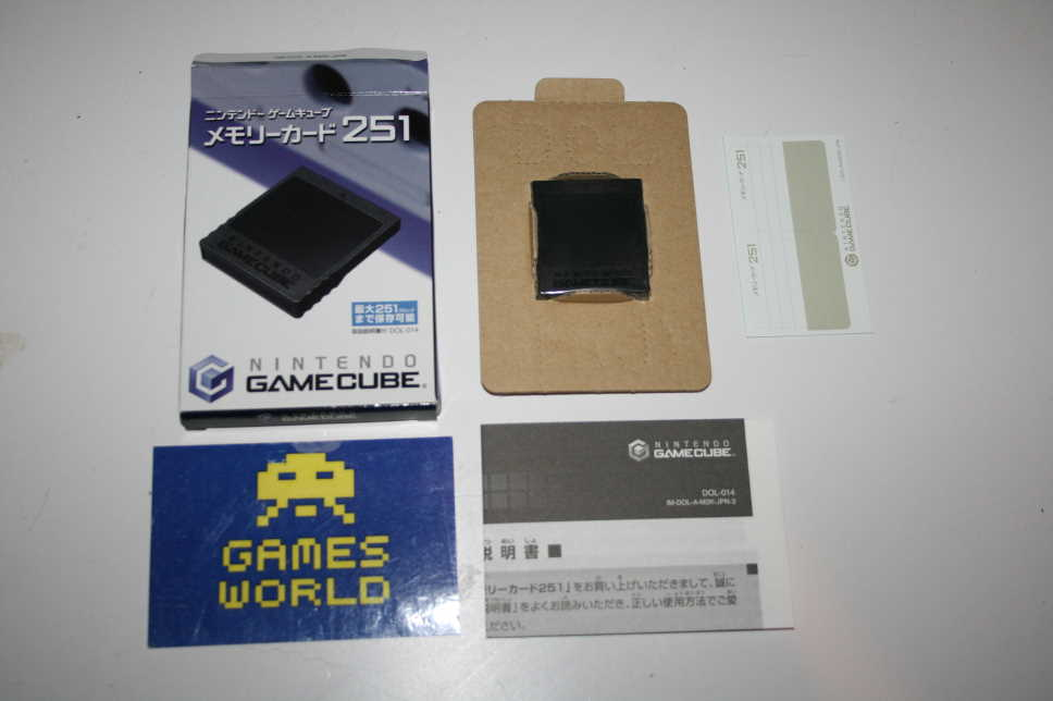 Official Game Cube 251 Block Japanese Memory Card