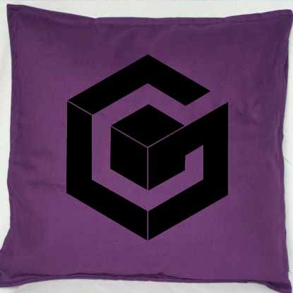 Pixel Pixels: Game Cube Cushion Cover