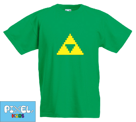 Pixel Pixels Kids: Zelda Triforce T Shirt