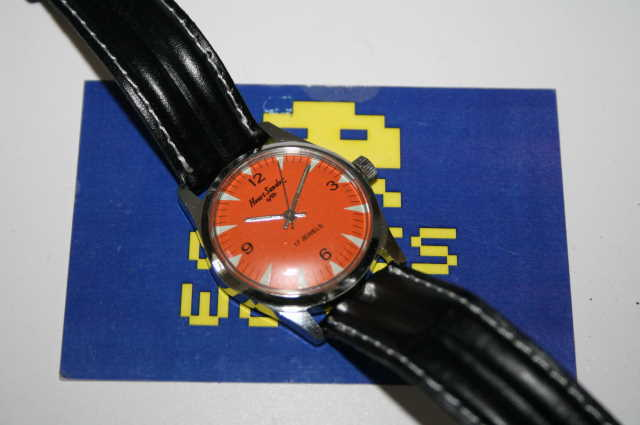 Henri Sandoz: Automatic Red Face Watch