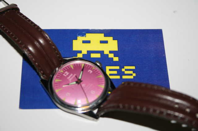 HMT: Jawan Automatic Pink Face Watch
