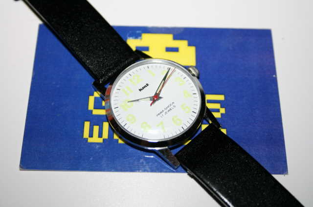 HMT: Slim Para Shock Automatic White Face Watch