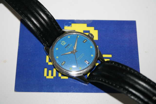 HMT: Pilot Automatic Blue Face Watch