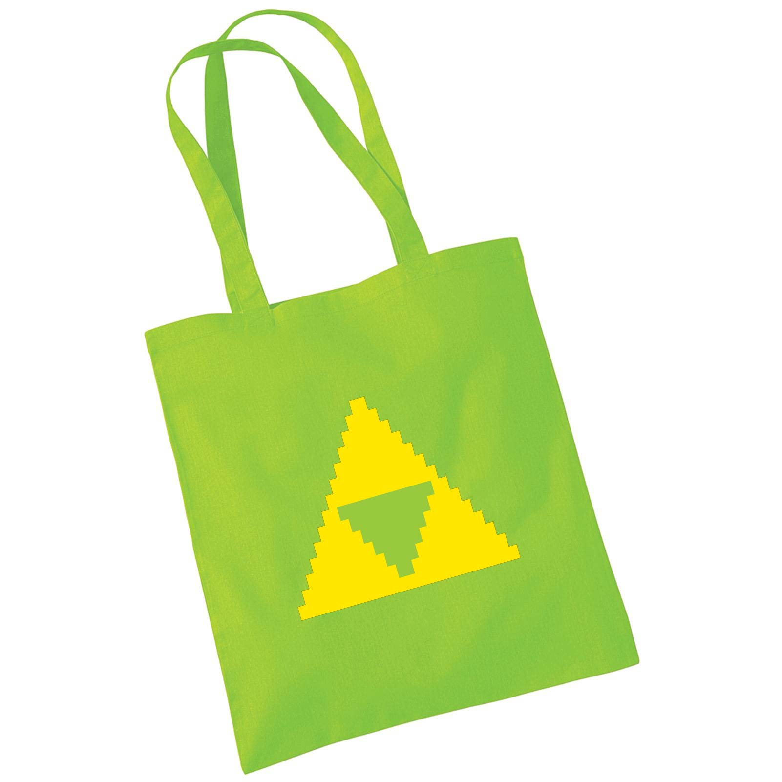 Pixel Pixels: Zelda Triforce Tote Bag (Green)