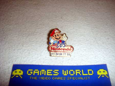 Mario SOS Badge