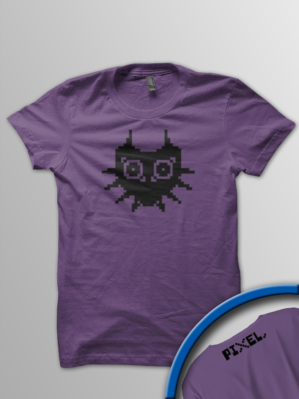 Pixel Pixels: Pixel Majora's Mask T Shirt (Purple) OUT OF PRINT