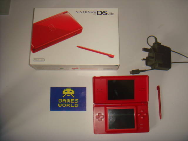 Nintendo DS Lite Console: Red