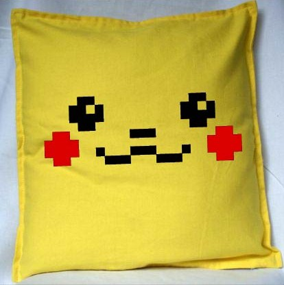 Pixel Pixels: Pika Pixels Cushion Cover