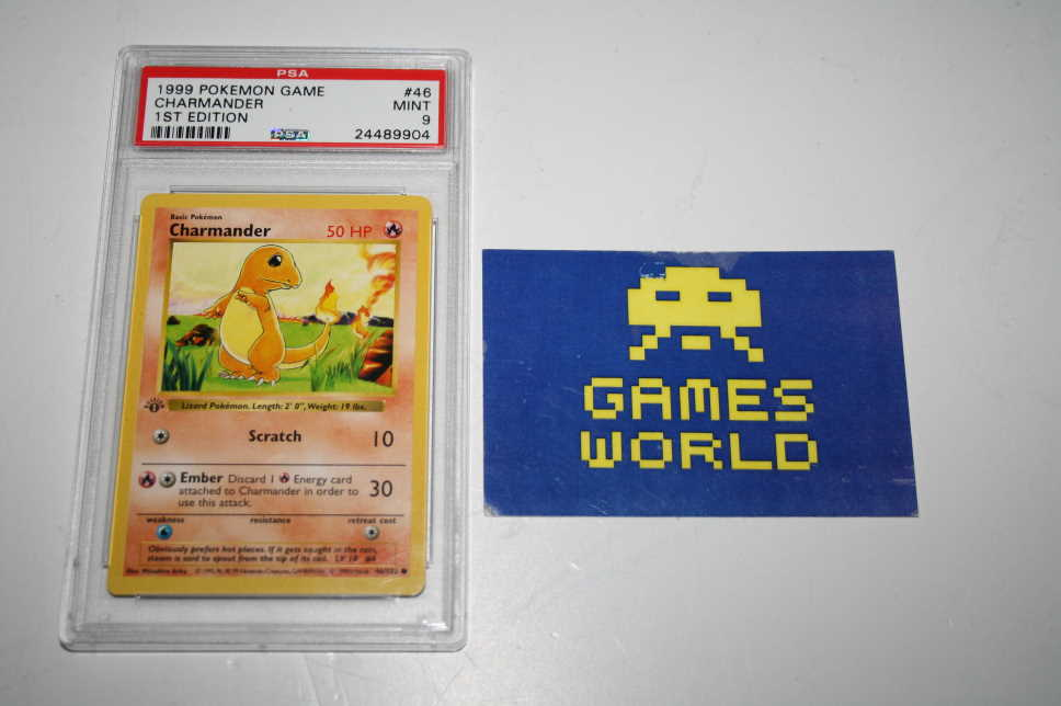 Pokemon TCG 1999 Base Set Charmander 1st Edition PSA Graded 9