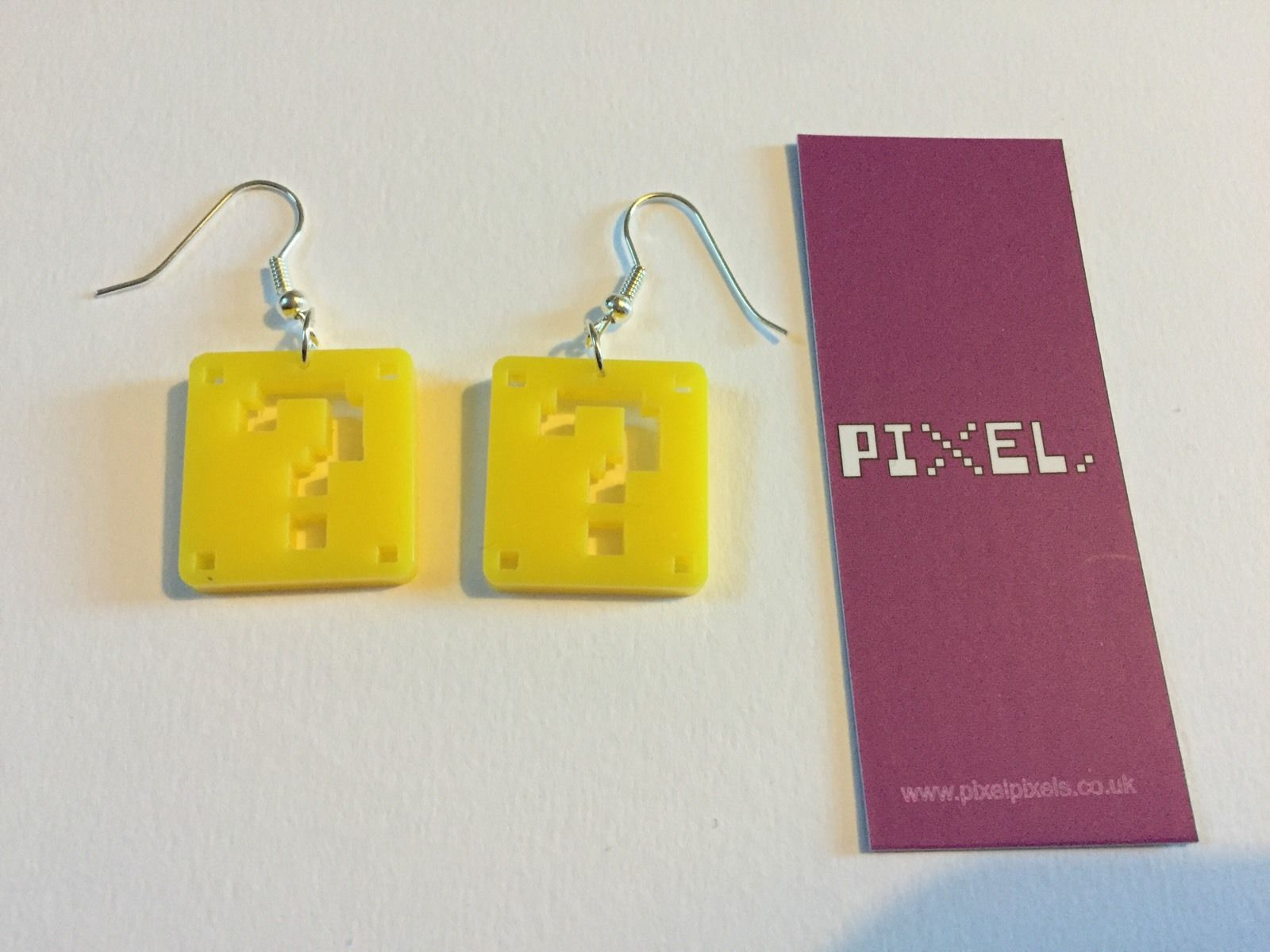 Pixel Pixels Earrings: Super Mario Question Blocks