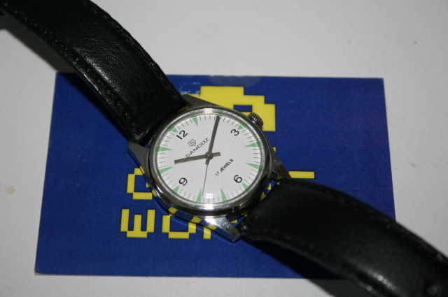 Sandoz: Austomatic White Face Watch