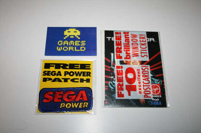 Sega Power Patch and 10 Postcards