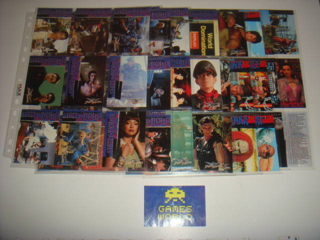 Street Fighter The Movie Complete Set of Trading Cards